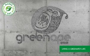 GreenApe Logo Betonwand Keywords Living